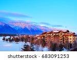 tourist complex on the... | Shutterstock . vector #683091253