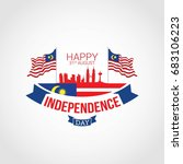 malaysia independence day... | Shutterstock .eps vector #683106223