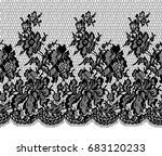 seamless vector black lace... | Shutterstock .eps vector #683120233