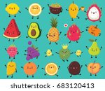 vintage food poster design with ... | Shutterstock .eps vector #683120413