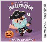 vintage halloween poster design ... | Shutterstock .eps vector #683120443