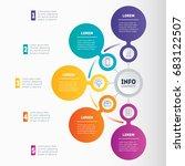 business presentation or... | Shutterstock .eps vector #683122507