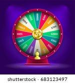 vector 3d spinning fortune... | Shutterstock .eps vector #683123497