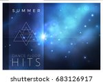 vector space banner design with ...