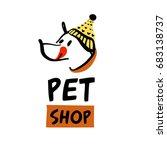 freehand drawn template logo ... | Shutterstock .eps vector #683138737