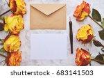 vintage mockup. blank paper and ... | Shutterstock . vector #683141503