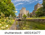 canterbury view in summer  kent ... | Shutterstock . vector #683141677