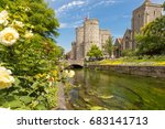 canterbury view in summer  kent ... | Shutterstock . vector #683141713