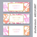 set of banners templates.... | Shutterstock .eps vector #683141887