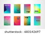 a4 brochure cover mininal... | Shutterstock .eps vector #683142697