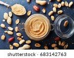 Peanut Butter Jar And Heap Of...