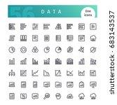 set of 56 data analytics line... | Shutterstock .eps vector #683143537