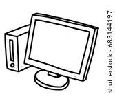 computer   cartoon vector and... | Shutterstock .eps vector #683144197