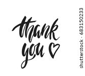 thank you. inspirational quote... | Shutterstock .eps vector #683150233