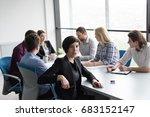 portrait of successful... | Shutterstock . vector #683152147