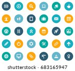 vector illustration set of... | Shutterstock .eps vector #683165947