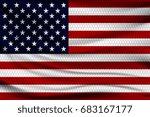 national flag of usa on wavy... | Shutterstock .eps vector #683167177