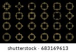 a huge rosette wicker border... | Shutterstock .eps vector #683169613