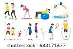 general exercise. people... | Shutterstock .eps vector #683171677