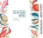 seafood  background fresh fish...   Shutterstock .eps vector #683175397