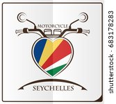 motorcycle logo made from the... | Shutterstock .eps vector #683178283