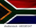 national flag of south africa... | Shutterstock .eps vector #683185147