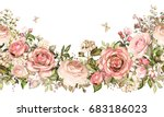 isolated seamless border with... | Shutterstock . vector #683186023