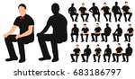 vector  isolated silhouette of... | Shutterstock .eps vector #683186797