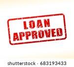 illustration of loan approved... | Shutterstock .eps vector #683193433