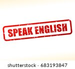 illustration of speak english... | Shutterstock .eps vector #683193847