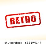 illustration of retro text... | Shutterstock .eps vector #683194147