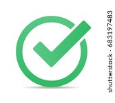 green tick checkbox vector...