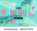 summer sale abstract banner... | Shutterstock .eps vector #683197693