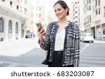 portrait of a beautiful... | Shutterstock . vector #683203087