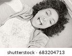 black and white portrait of... | Shutterstock . vector #683204713