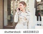 portrait of beautiful elegant... | Shutterstock . vector #683208313