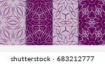 set of modern pattern of... | Shutterstock .eps vector #683212777