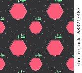 flat line garnet pattern vector | Shutterstock .eps vector #683217487