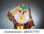 funny clown in comical concept | Shutterstock . vector #683217757