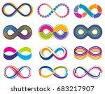 endless mobius loop infinity... | Shutterstock .eps vector #683217907