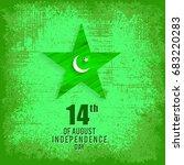14 august. pakistan... | Shutterstock .eps vector #683220283