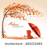 autumn banners with trees and... | Shutterstock .eps vector #683222683
