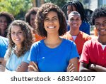 group of laughing laughing... | Shutterstock . vector #683240107