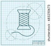 vector blueprint tailor thread... | Shutterstock .eps vector #683250673