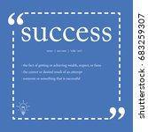 success definition   Shutterstock .eps vector #683259307