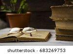 beautiful image of folded books
