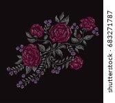 elegant bouquet with rose... | Shutterstock . vector #683271787
