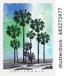 photo print california beach... | Shutterstock . vector #683272477