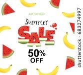 summer sale banner | Shutterstock .eps vector #683274997
