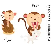 opposite slow and fast vector... | Shutterstock .eps vector #683277613
